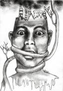 """""""Versus"""" Alf Sukatmo. 2015. Pencil on paper."""